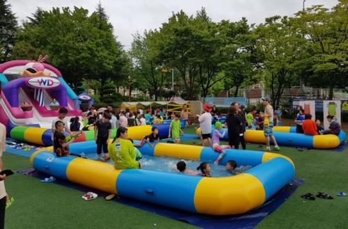 광주 봉선공원에 어린이 물놀이장 개장…23일까지 한시 운영