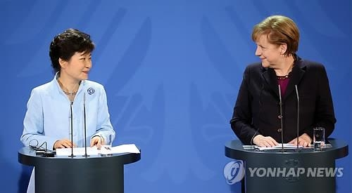 (2nd LD) Park wins Germany's promise to provide support for Korean unification