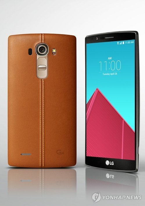 G4 smartphones in a photo provided by LG Electronics Co. (Yonhap)