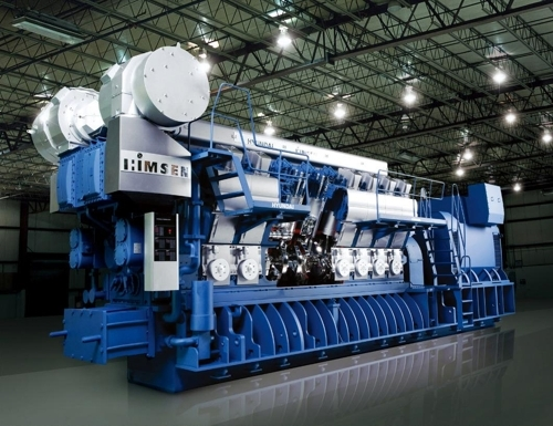 This photo, provided by Hyundai Heavy Industries Co., shows its own developed HiMSEN engine. (Yonhap)