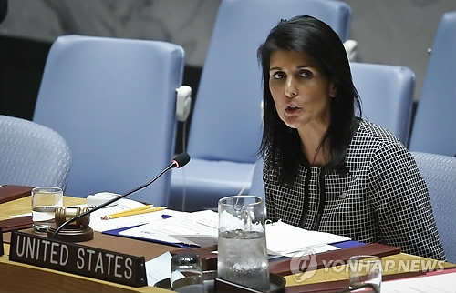 (LEAD) Haley: U.S. prepared to use military force against N. Korea if necessary - 1
