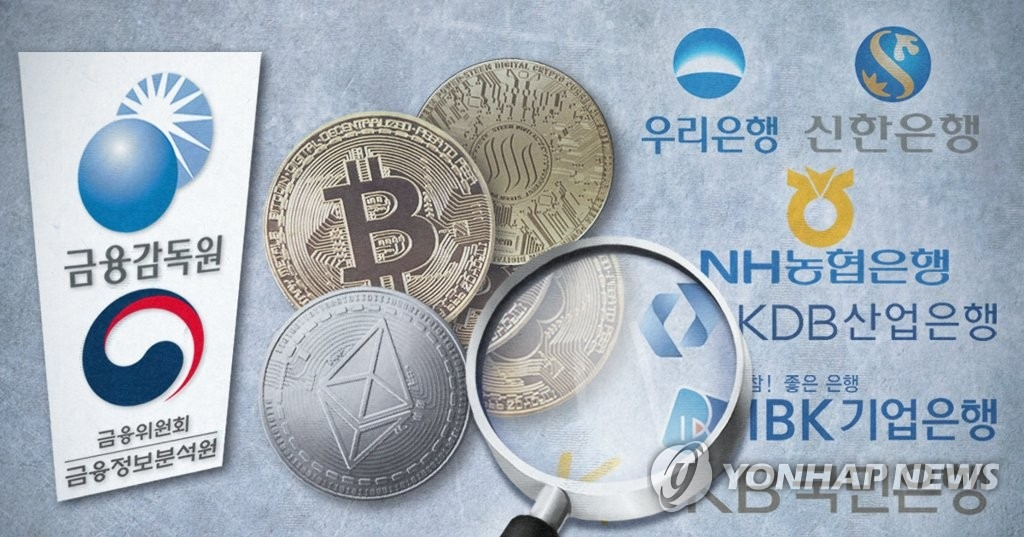 (LEAD) S. Korea to inspect cryptocurrency accounts at major banks - 1