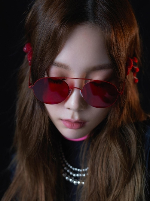 "A teaser image for Taeyeon's third EP, ""Something New,"" provided by SM Entertainment (Yonhap)"