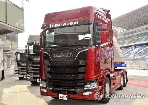 This photo provided by Scania Korea shows its truck. (Yonhap)
