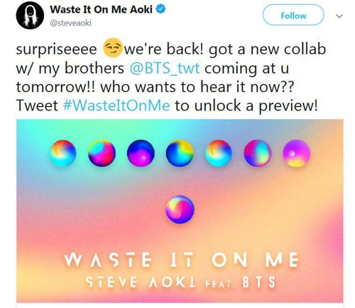 Bts Third Collaboration Song With Aoki Set For Release Yonhap