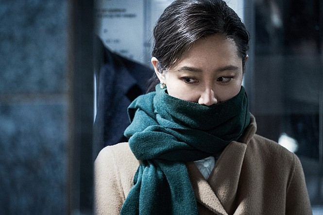 "This photo provided by Megabox Plus M is a still from ""Door Lock"" (Yonhap)"