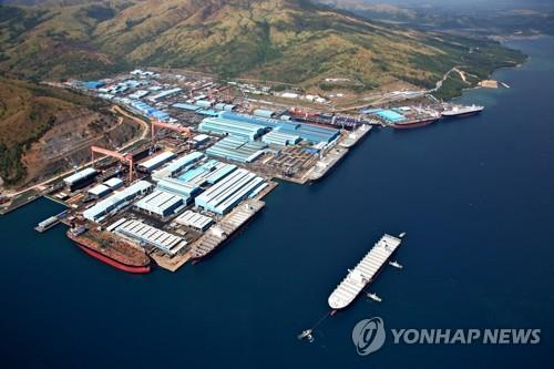 This photo shows Hanjin Heavy's Subic shipyard in the Philippines. (Yonhap)