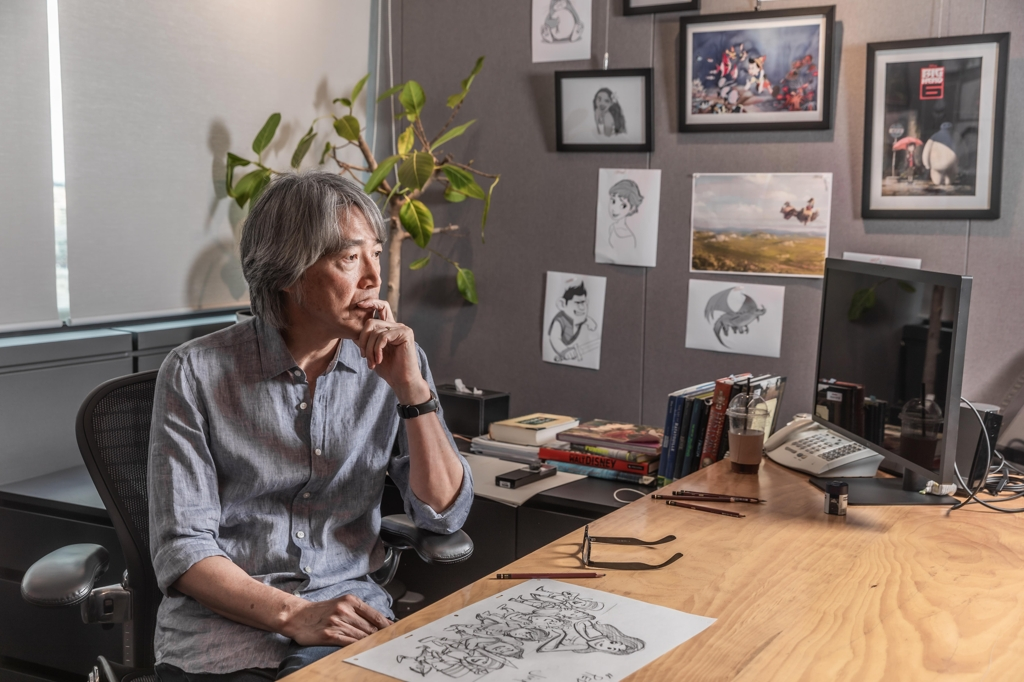 "This image provided by Line Friends Corp. shows South Korean animator Kim Sang-jin, better known as Jin Kim, the executive creative director of ""Red Shoes."" (PHOTO NOT FOR SALE) (Yonhap)"
