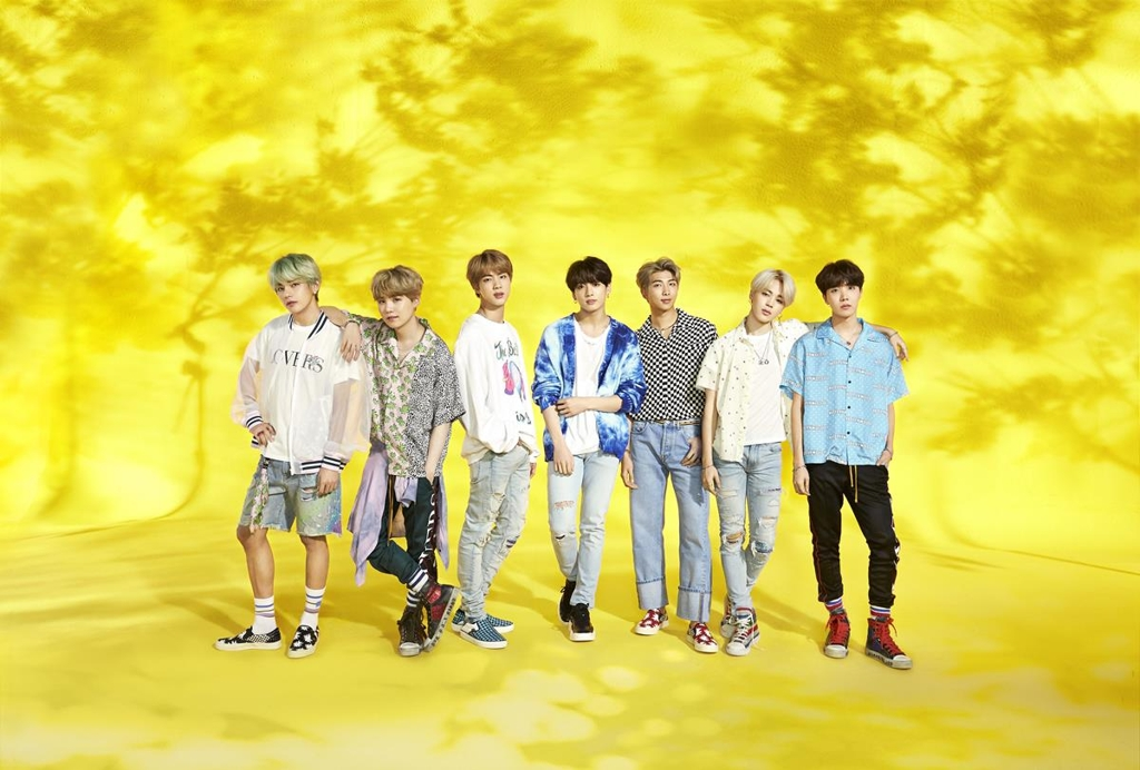 This image of BTS is provided by Big Hit Entertainment. (PHOTO NOT FOR SALE) (Yonhap)