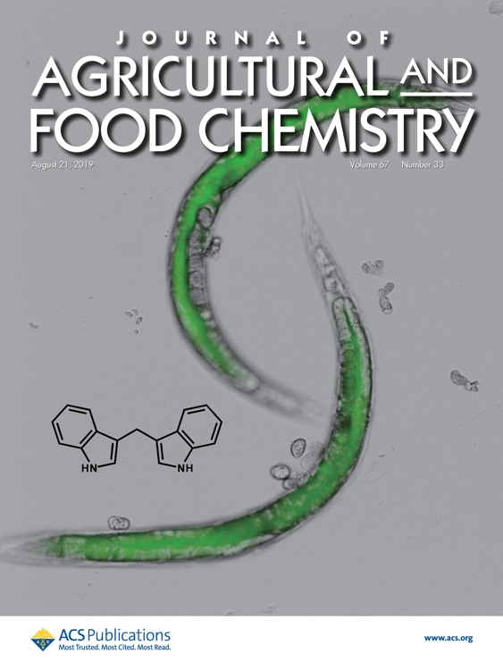 The supplementary cover of the Journal of Agricultural and Food Chemistry, provided by KIST, shows the use of roundworms to find treatment for intestinal illness. (PHOTO NOT FOR SALE) (Yonhap)