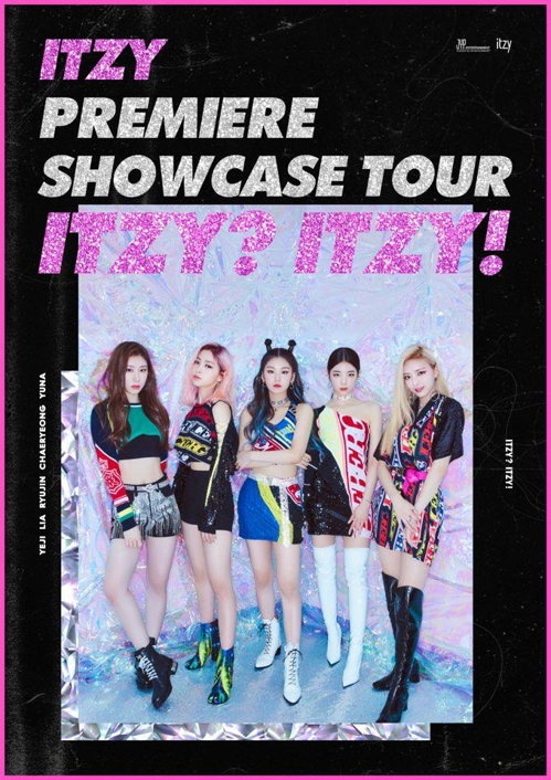 This promotional poster for ITZY's first world tour is provided by JYP Entertainment. (PHOTO NOT FOR SALE) (Yonhap)