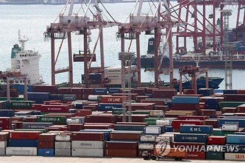 S. Korea's exports down 9.6 pct in first 20 days of November
