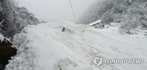 (2nd LD) Heavy snowfall hinders search efforts for 4 missing S. Korean trekkers in Himalayas
