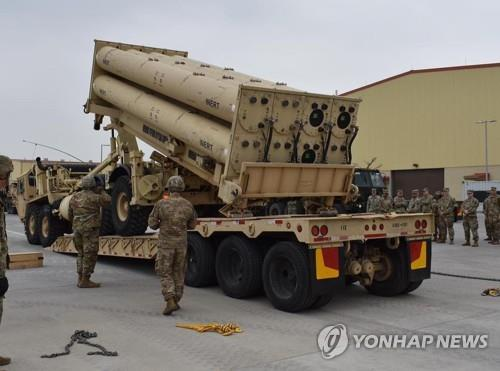 A launcher of an advanced U.S. missile defense system called THAAD is seen in this photo captured from the Facebook account of the 35th Air Defense Artillery Brigade of the U.S. Forces Korea (USFK) on April 24, 2019. (Yonhap)