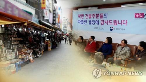 (Yonhap Feature) Virus-hit small businesses relieved by rent reduction campaign - 5