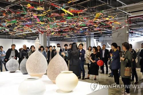 This file photo shows the 11th Cheongju Craft Biennale held in the central South Korean city in the fall of 2019. (Yonhap)