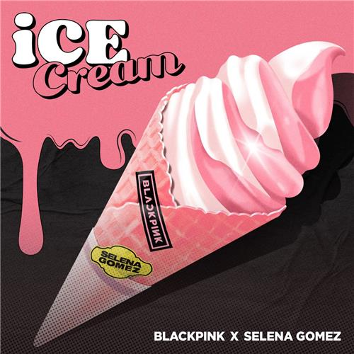 """This image provided by YG Entertainment shows the album cover art for BLACKPINK's upcoming single """"Ice Cream"""" featuring American pop star Selena Gomez. (PHOTO NOT FOR SALE) (Yonhap)"""