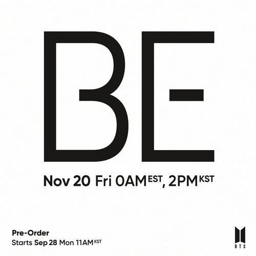 "A promotional image for BTS' upcoming album ""BE"" released by Bit Hit Entertainment (PHOTO NOT FOR SALE) (Yonhap)"