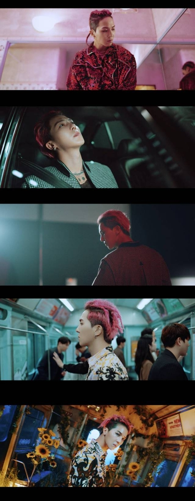 """This image, provided by YG Entertainment, shows a teaser for Mino's music video """"Run Away."""" (PHOTO NOT FOR SALE) (Yonhap)"""