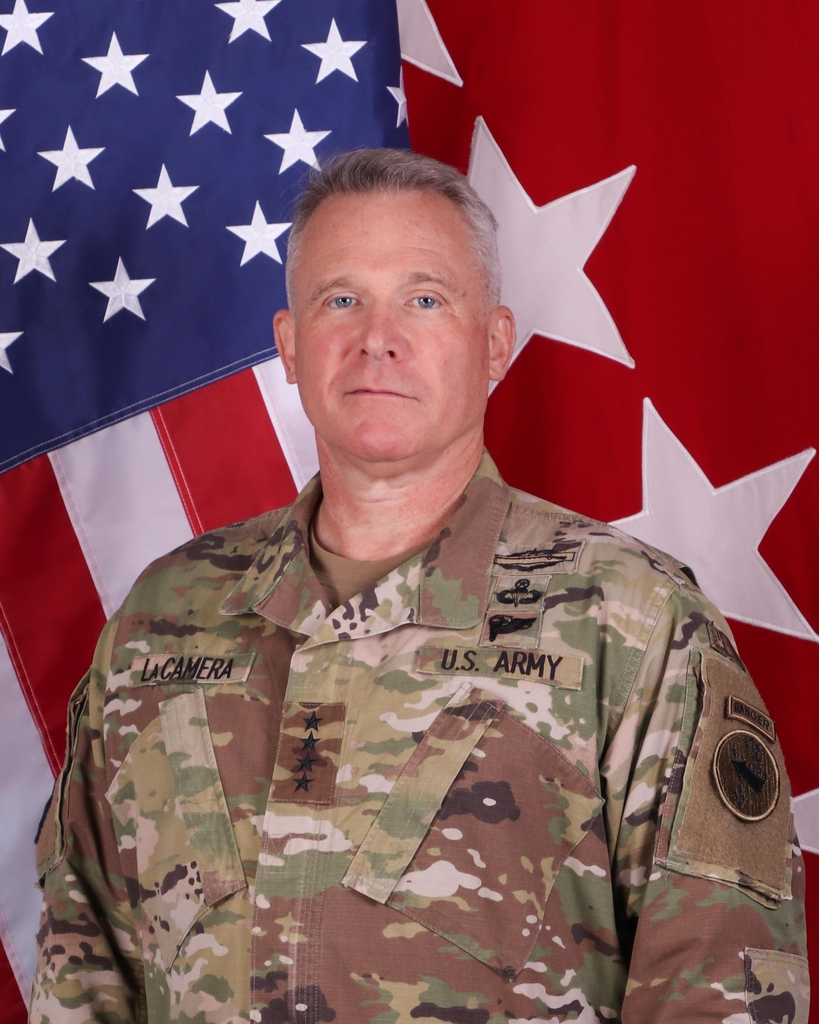 This photo downloaded from the U.S. Army Pacific website on Dec. 4, 2020, shows Gen. Paul LaCamera. (PHOTO NOT FOR SALE) (Yonhap)