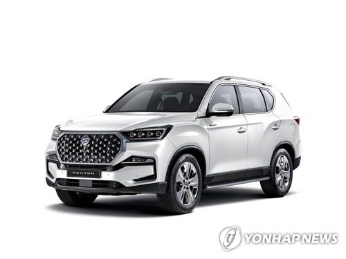 This file photo provided by SsangYong Motor shows the all-new Rexton SUV. (PHOTO NOT FOR SALE) (Yonhap)