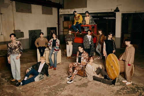 This photo, provided by Pledis Entertainment, shows boy band Seventeen. (PHOTO NOT FOR SALE) (Yonhap)