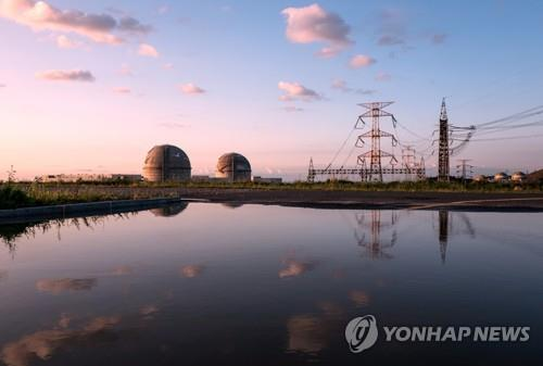 The photo provided by the Korea Hydro & Nuclear Power Plant on Dec. 6, 2019, shows Shin Kori units 3 and 4 in Ulsan, South Korea. (PHOTO NOT FOR SALE) (Yonhap)