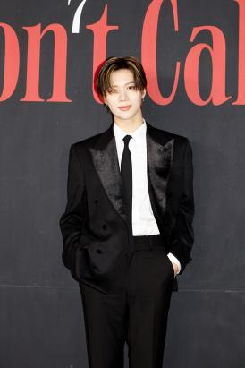 This photo, provided by SM Entertainment on Feb. 22, 2021, shows Taemin of K-pop boy band SHINee during an online press conference. (PHOTO NOT FOR SALE)(Yonhap)