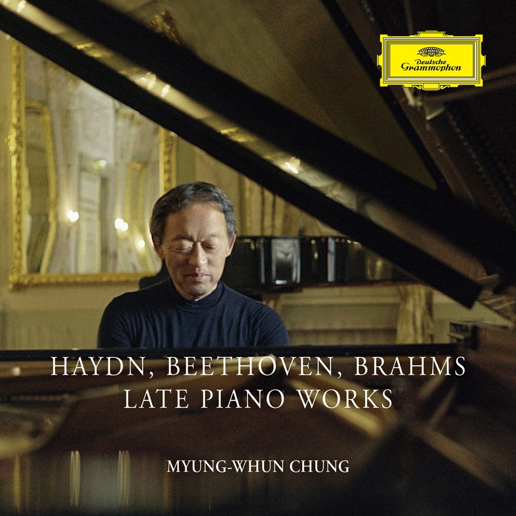 "This image, provided by Universal Music, shows the cover for conductor and pianist Chung Myung-whun's album ""Haydn, Beethoven, Brahms: Late Piano Works."" (PHOTO NOT FOR SALE) (Yonhap)"