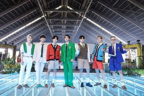 This photo, provided by Big Hit Music, shows BTS. (PHOTO NOT FOR SALE) (Yonhap)