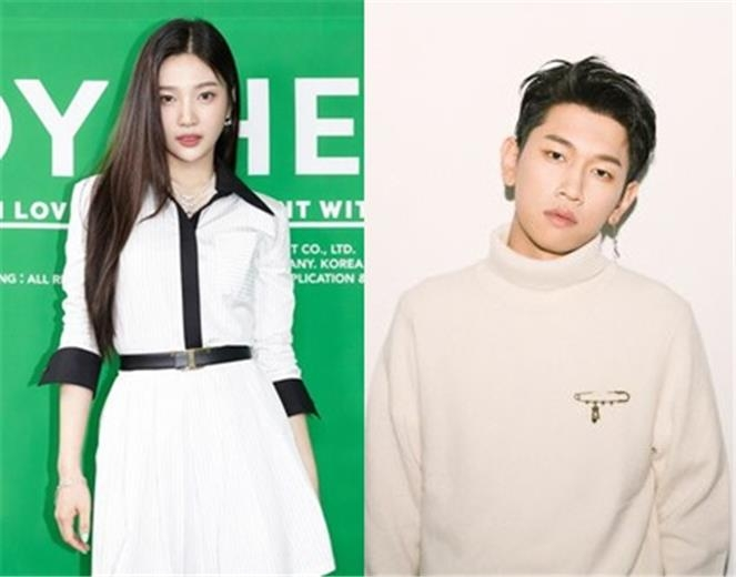 This compilation image of photos provided by SM Entertainment and P Nation shows Joy (L) and Crush. (PHOTO NOT FOR SALE) (Yonhap)