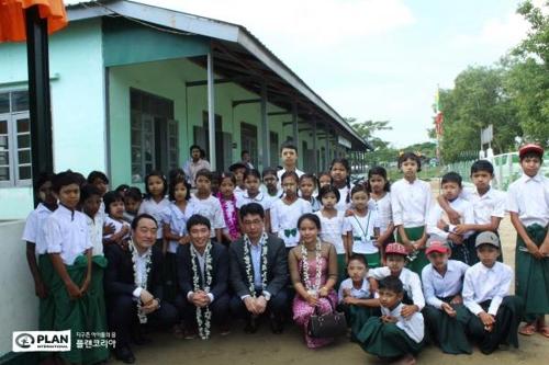 플랜코리아-현대건설, 재난 대비 '미얀마 양곤 세이프스쿨' 완공0