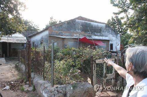독립운동가 임천택 선생이 쿠바 마탄사스시의 엘 볼로 마을에 세운 한글학교 건물이 방치된 채 허물어져가고 있다. [연합뉴스 자료 사진]