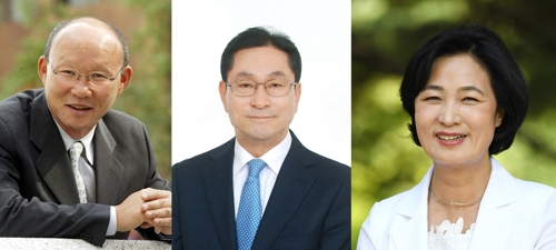2018년도 '자랑스러운 한양인상' 수상자. 왼쪽부터 박항서, 윤달선, 추미애