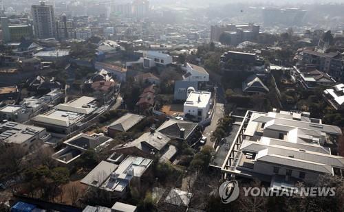 서울 용산구 이태원로 일대 단독주택