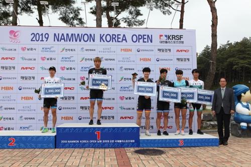 2019 남원코리아오픈 스피드 남자 MVP 최광호(가운데)