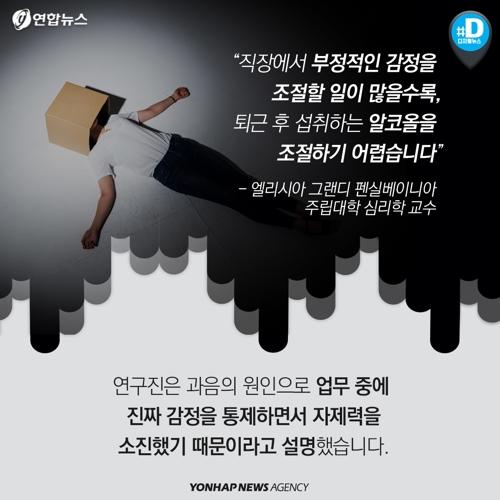 [카드뉴스] 억지웃음 짓는 감정노동자, 과음하기 쉽다? - 7