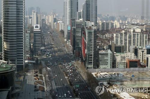 서울 삼성동에서 본 영동대로 일대 [연합뉴스 자료사진]