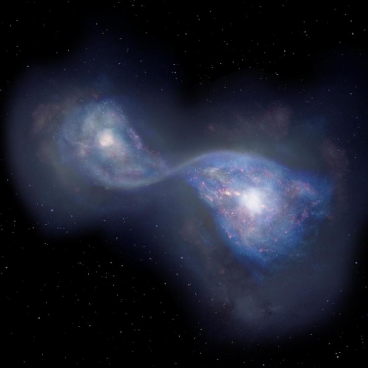 약 130억년 전 가장 오래된 은하 합체 관측 | 연합뉴스