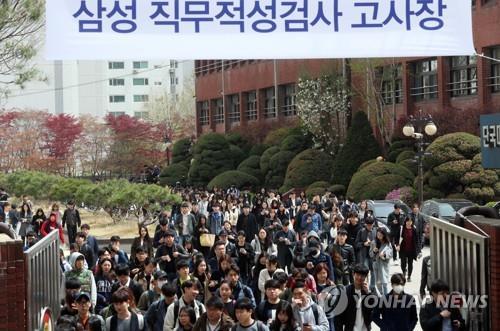 삼성그룹의 대졸 신입 공채를 위한 삼성 직무적성검사(GSAT)