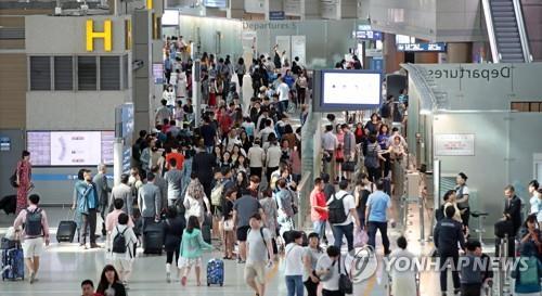 인천공항 출국장 [연합뉴스 자료사진]