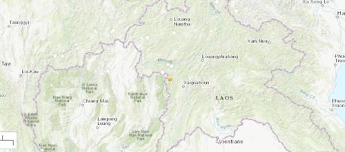 규모 6.1 지진이 발생한 태국 북부 난주와 라오스 접경 지역
