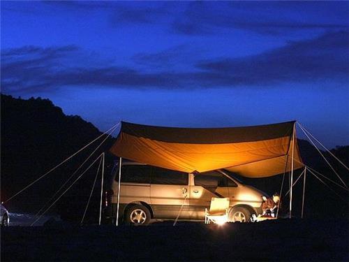 다른 가족과 섞이지 않는 나만의 캠핑을 즐기는 모습 [사진/성연재 기자]
