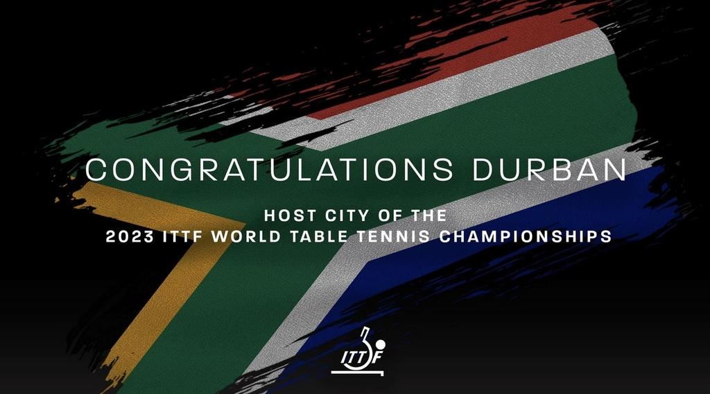 2023년 세계탁구선수권 개최지로 선정된 남아공 더반