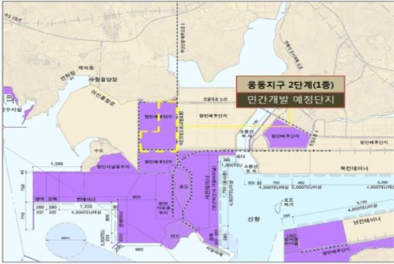 부산항 신항 웅동지구(2단계) 1종 항만배후단지 개발사업 위치도