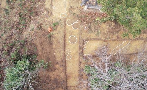 고창 태봉(해발 112m)에서 발견된 마한시대 토성