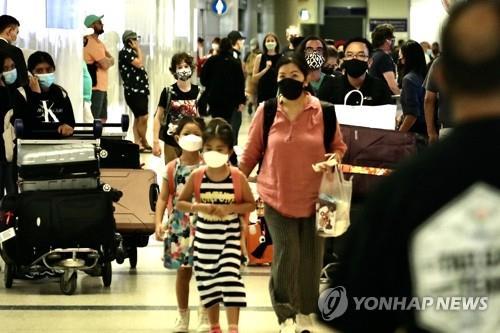 코로나19 급증에 '마스크 의무화' 복원한 미 LA카운티 [신화=연합뉴스 자료사진]