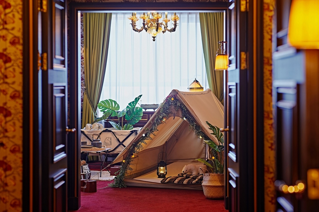 레스케이프 호텔의 캠핑 콘셉트 객실 [레스케이프 호텔 제공]