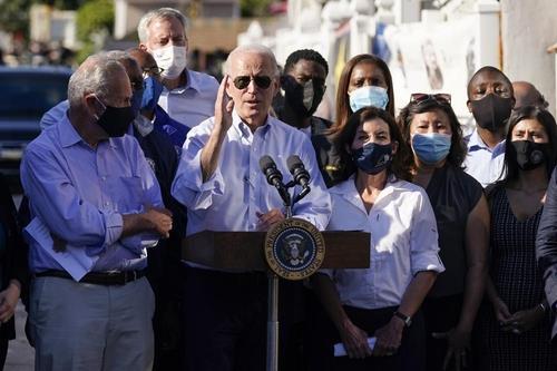 뉴욕에서 기후변화에 대한 공동대응을 강조하는 조 바이든 미국 대통령.[AP=연합뉴스]