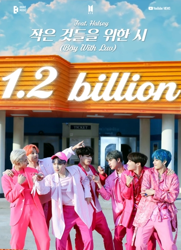 'Boy With Luv' de BTS supera los 1.200 millones de visualizaciones en YouTube